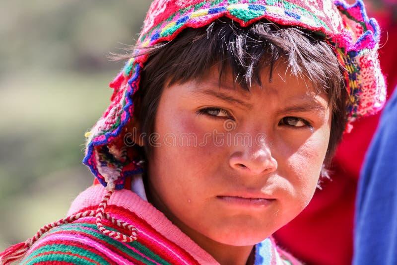 Garçon péruvien photo libre de droits