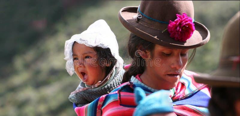Garçon péruvien image libre de droits