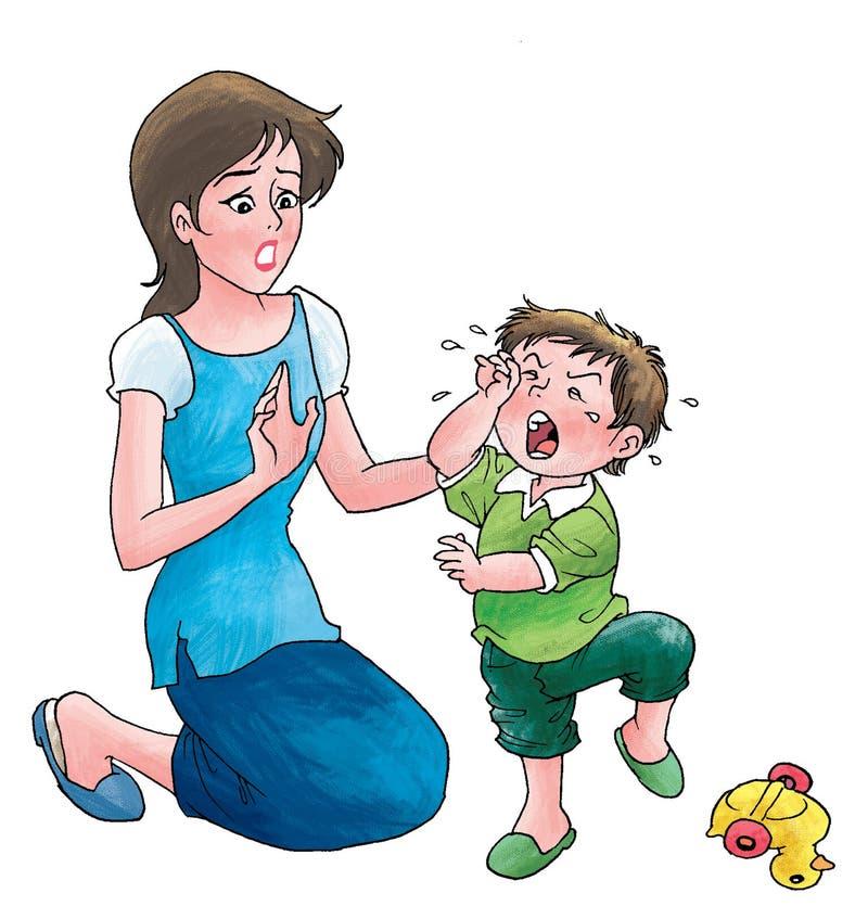 Download Garçon pleurant illustration stock. Illustration du illustration - 8672512