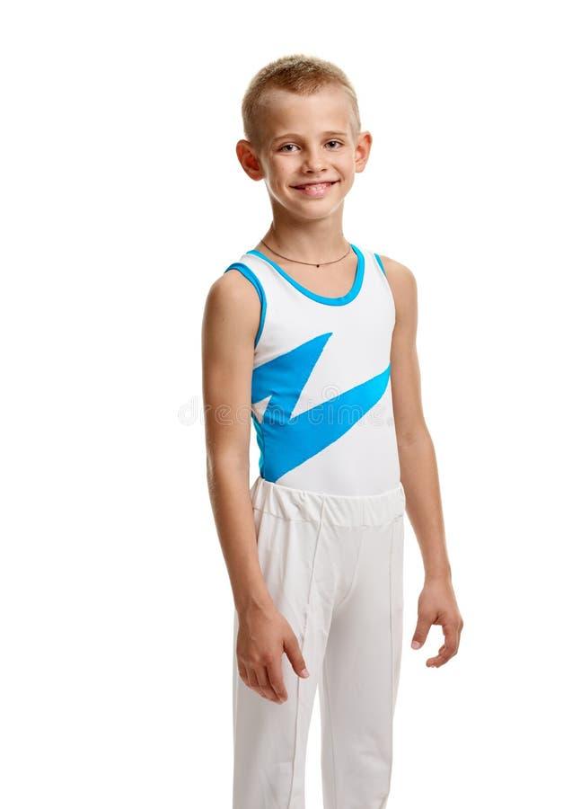 Garçon sportif de sourire image stock