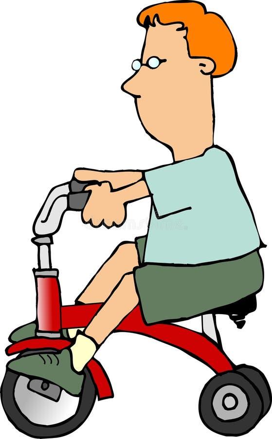Garçon sur un tricycle illustration libre de droits