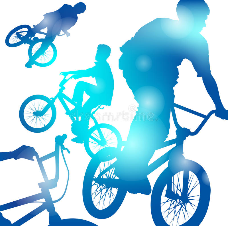 Garçons abstraits de BMX illustration libre de droits