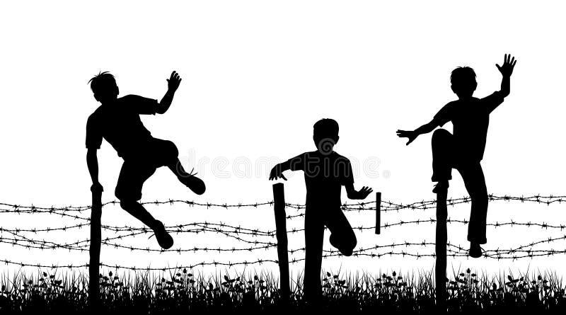 Garçons de frontière de sécurité illustration libre de droits