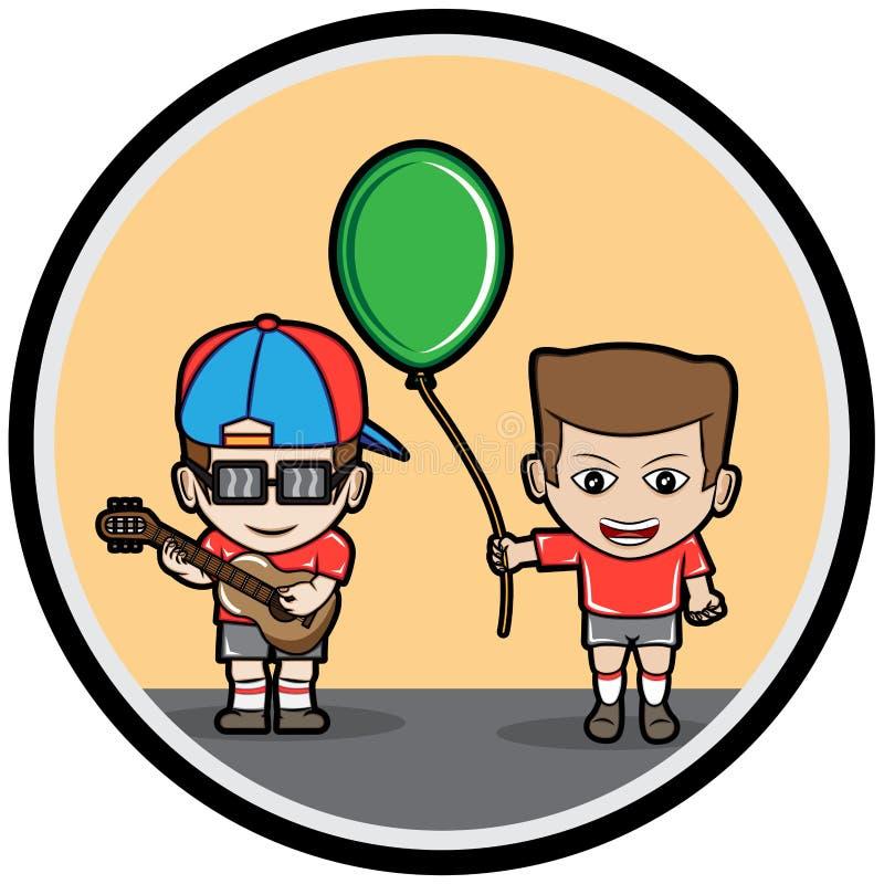 Garçons de jardin d'enfants illustration de vecteur