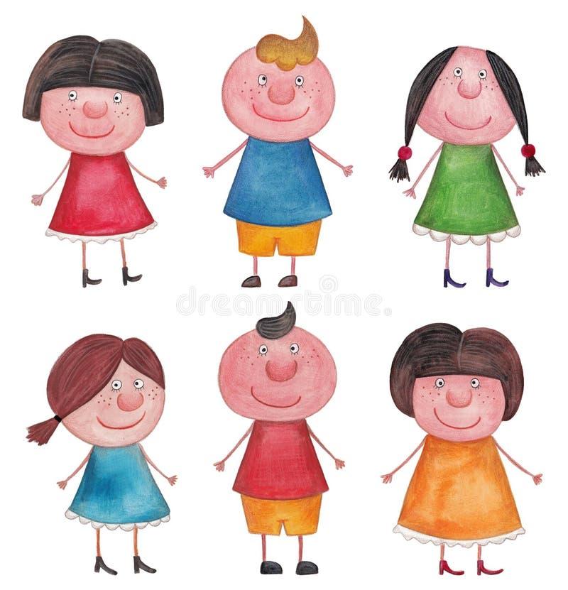 Garçons et filles illustration de vecteur