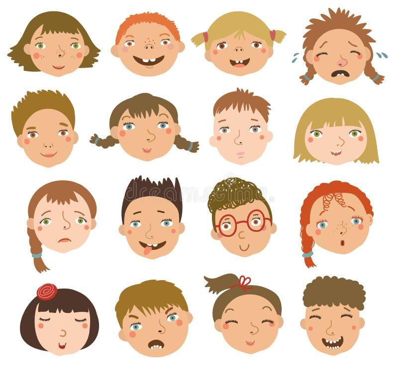 Garçons et filles dans l'ensemble de vecteur illustration de vecteur