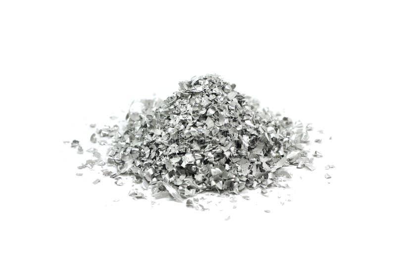 Garść aluminium proszek obraz royalty free