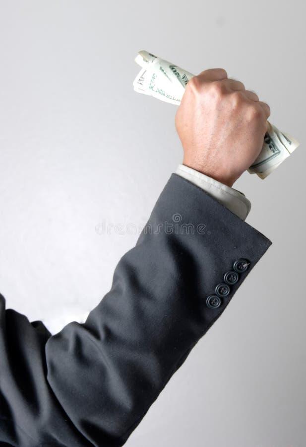 garść dolarów. fotografia stock