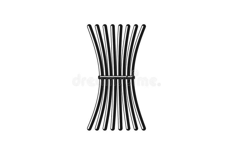 garść kije, symbol jedność logo Projektują inspirację Odizolowywającą na Białym tle ilustracja wektor