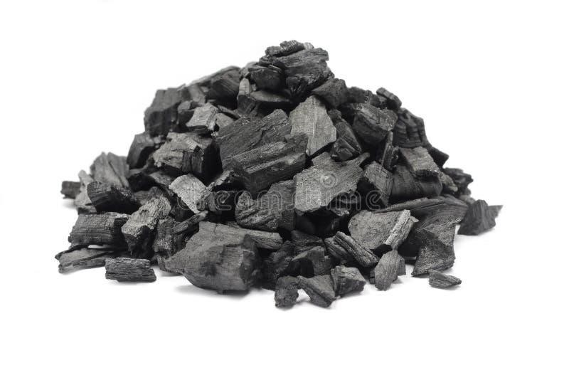 Garść zmielony węgiel drzewny zdjęcia stock