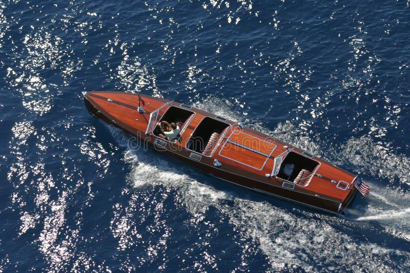 Gar Wood Speedboat clásico fotos de archivo libres de regalías