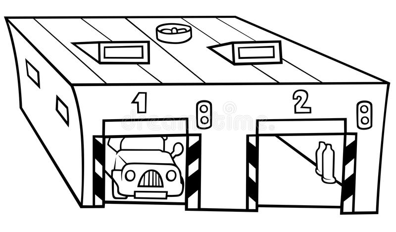 garaż ilustracji