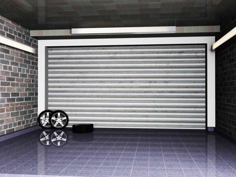 Garaż royalty ilustracja