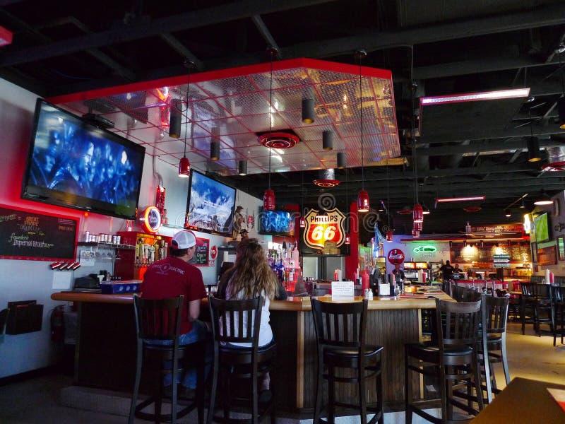 Garażu piwo, hamburgery, Oklahoma miasto, OK, bar i miejsca siedzące &, zdjęcia stock