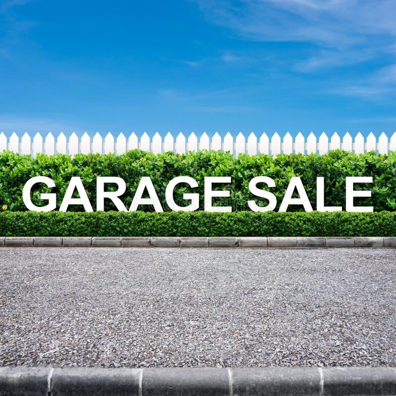 Garażu sprzedaży znak obrazy royalty free