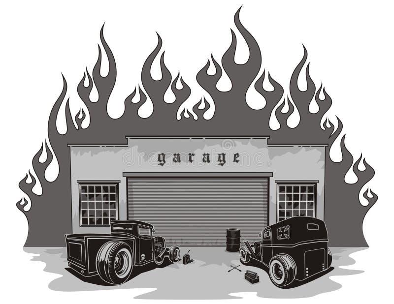 garażu szczura prącia ilustracji