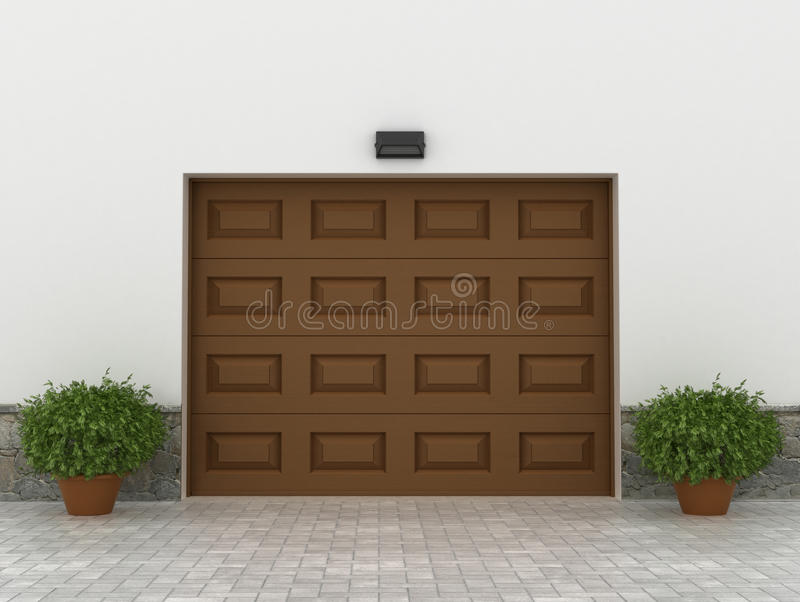 Garaży drzwi royalty ilustracja