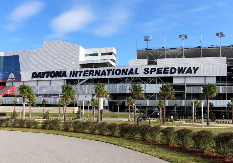 Gara motociclistica su pista dell'internazionale di Daytona fotografia stock