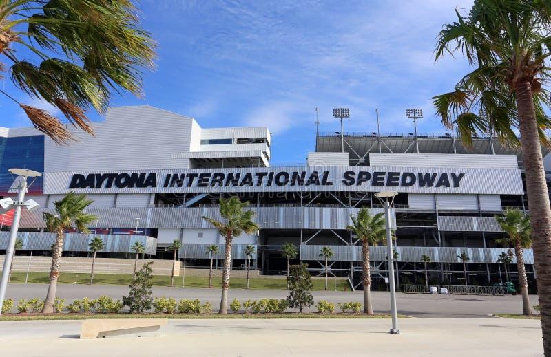Gara motociclistica su pista dell'internazionale di Daytona immagine stock