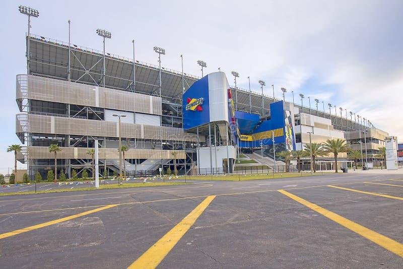 Gara motociclistica su pista dell'internazionale di Daytona immagini stock libere da diritti