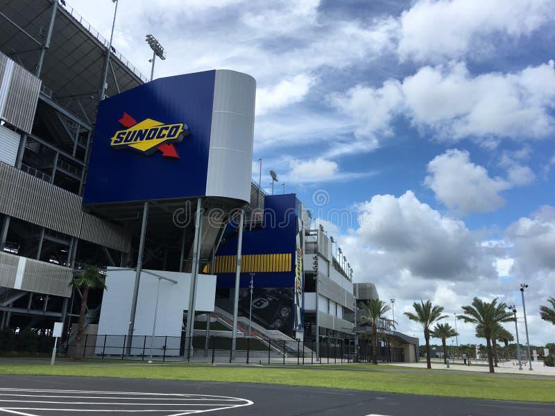 Gara motociclistica su pista dell'internazionale di Daytona fotografia stock libera da diritti