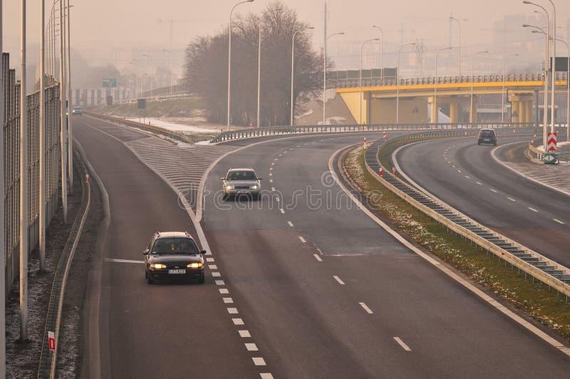 Gara motociclistica su pista S17 vicino a Lublino, Polonia immagine stock libera da diritti