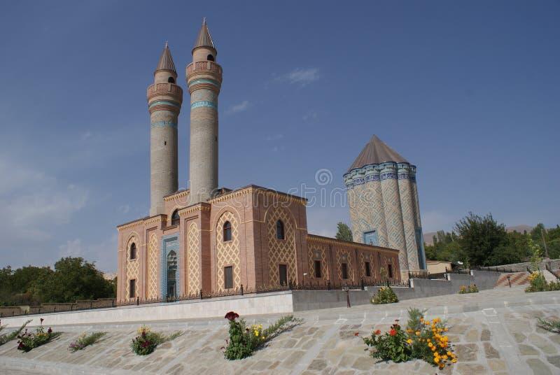 Garabaghlar陵墓,纳希切万自治共和国,阿塞拜疆 免版税库存照片