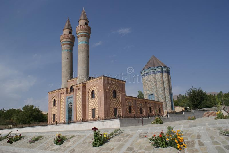 Garabaghlar Mausoleum, Nakhchivan, Azerbaijan. Late 12th and early 13th century complex with a tomb and mausoleum, located in Garabaghlar village in the Sharur royalty free stock photos