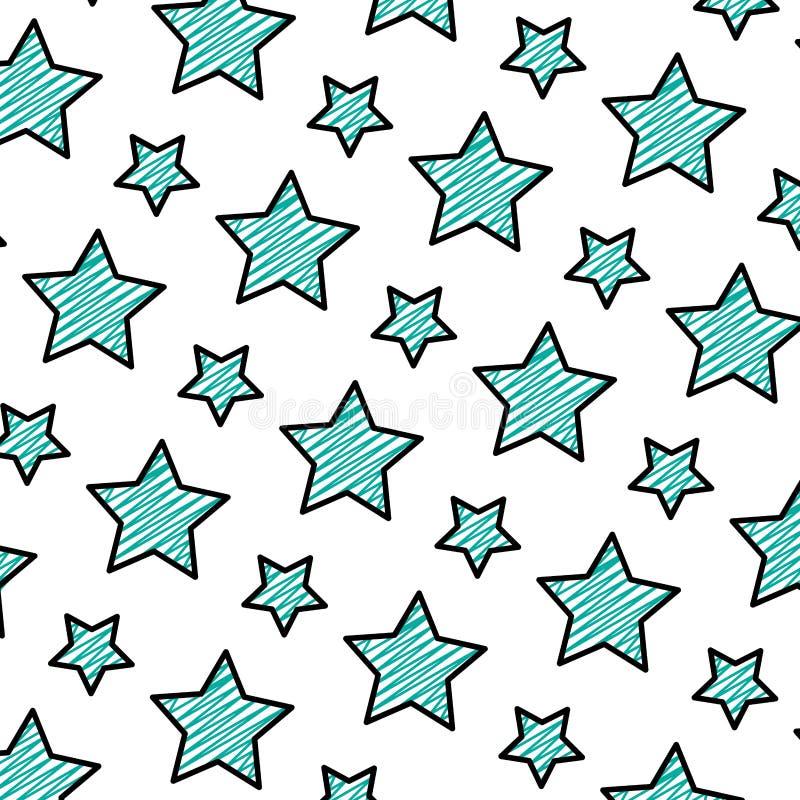 Garabatee el fondo brillante del universo de la estrella de la belleza libre illustration