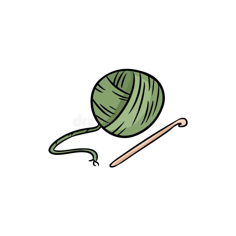 Garabato colorido del logotipo del hilado Para la impresión, etiquetas engomadas, diseño creativo Ilustraci?n del vector libre illustration