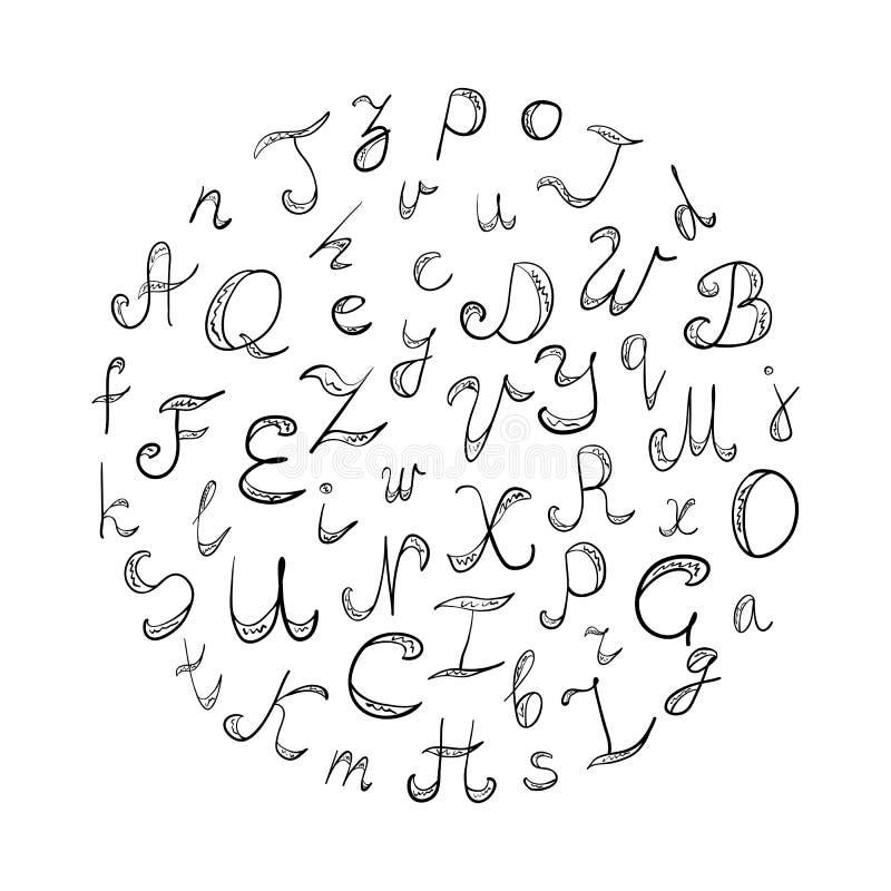 Garabato del alfabeto stock de ilustración