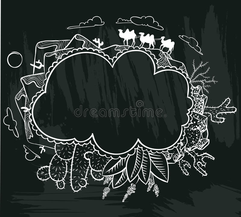 Garabato del desierto libre illustration