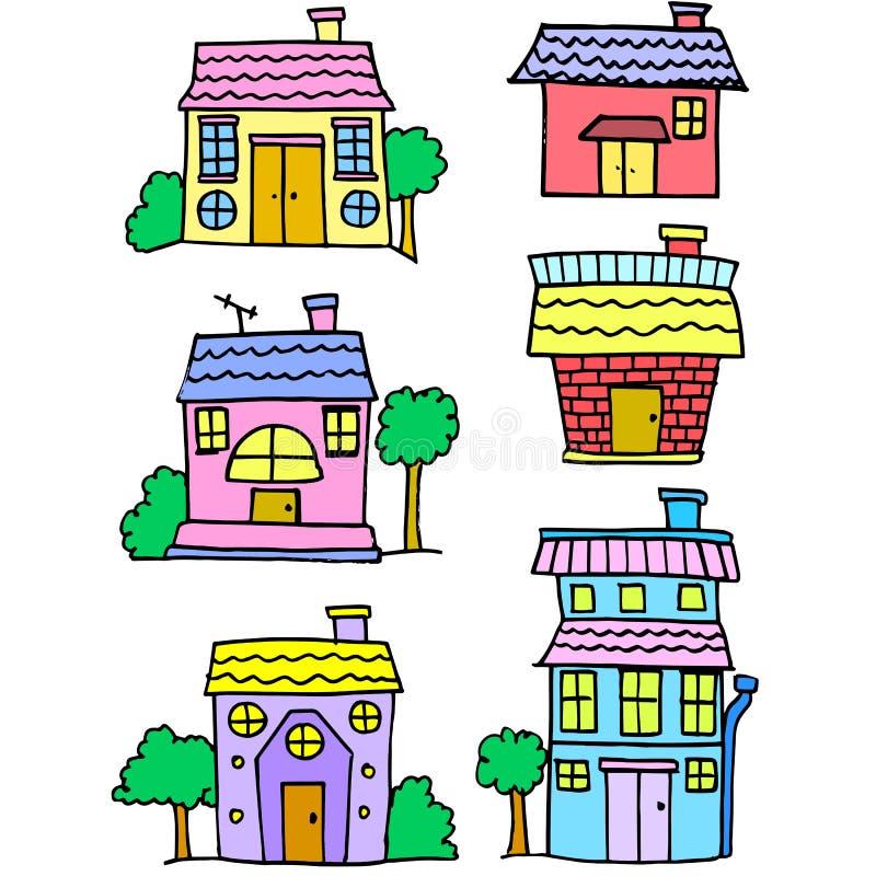 Garabato del diseño determinado de la historieta de la casa libre illustration