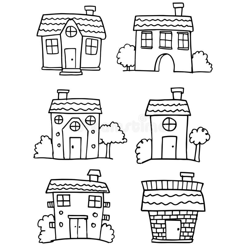Garabato del diverso sistema de la casa libre illustration