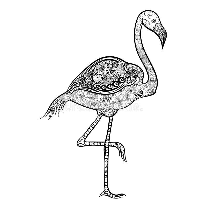 Garabato del flamenco ilustración del vector