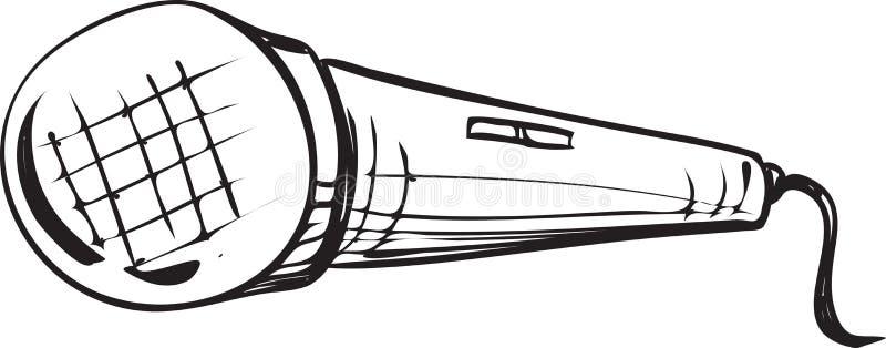 Garabato del micrófono stock de ilustración