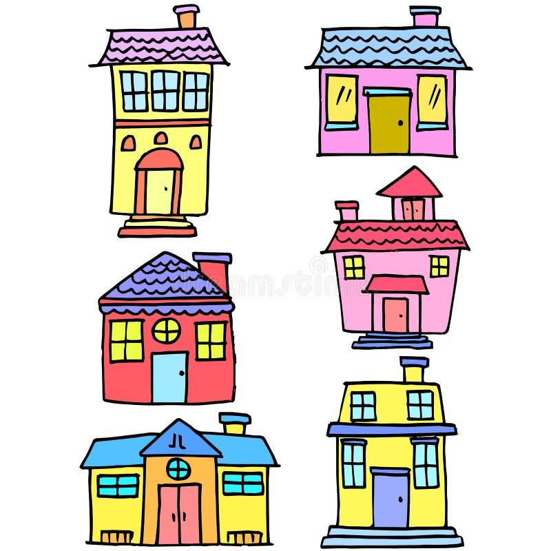 Garabato del sistema de la casa diverso libre illustration