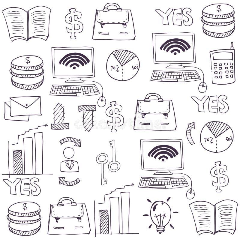 Garabato del tema del negocio del objeto libre illustration
