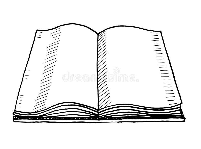 Garabato dibujado mano del libro Icono del estilo del bosquejo Elemento de la decoraci?n Aislado en el fondo blanco Dise?o plano  ilustración del vector