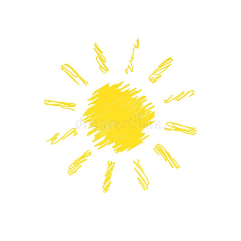 Garabato dibujado mano del sol libre illustration