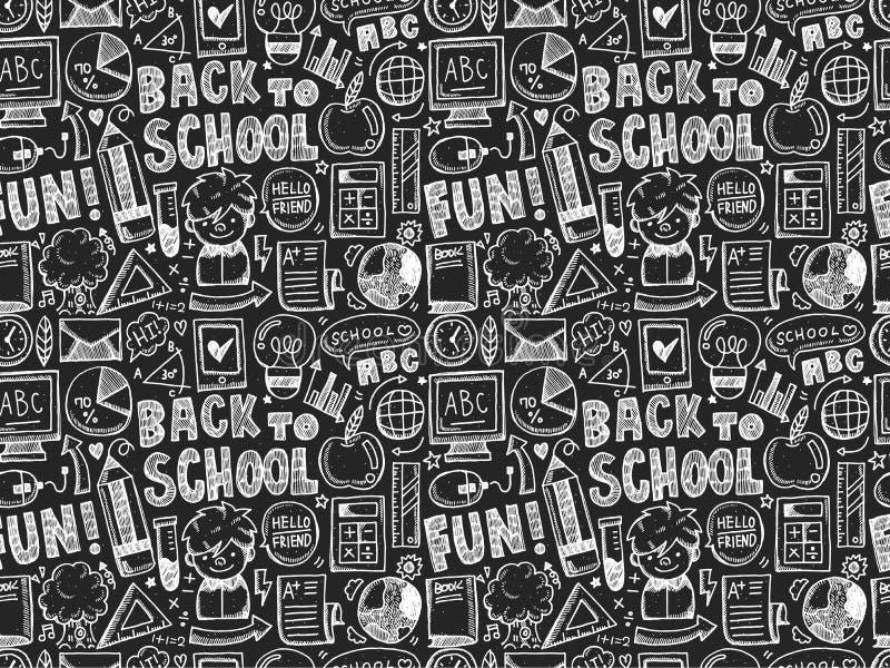 Garabato inconsútil de nuevo a modelo de la escuela libre illustration