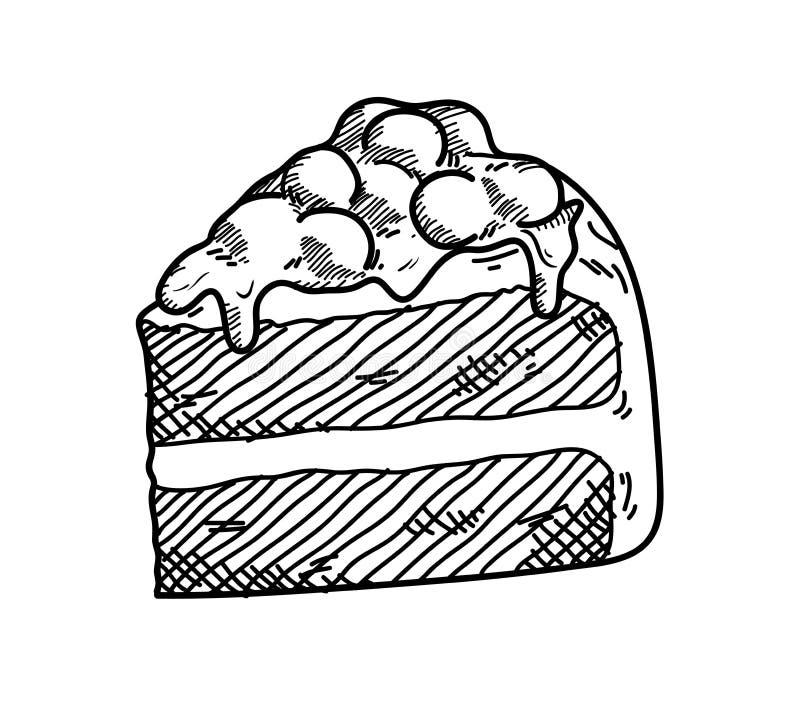 Garabato rojo del terciopelo stock de ilustración