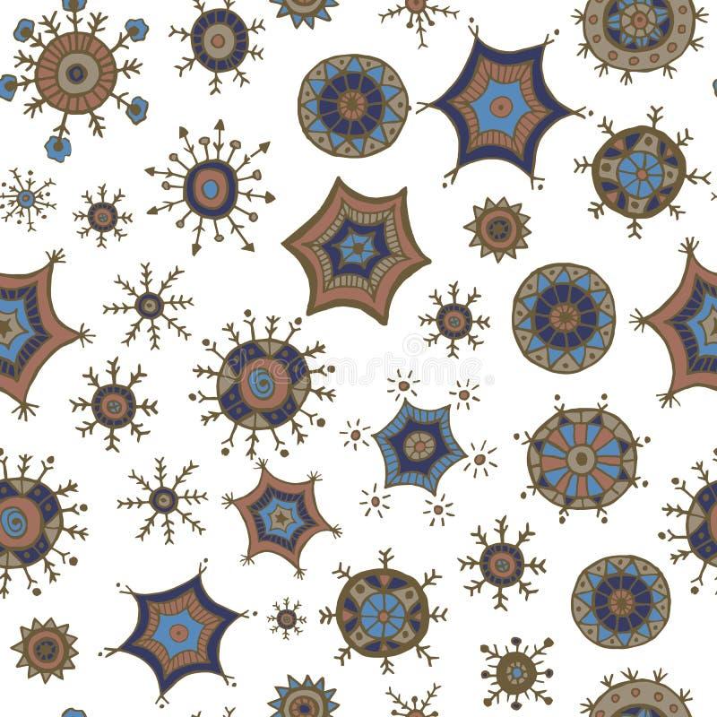 Download Garabatos Coloridos Dibujados Mano De Los Copos De Nieve Ilustración del Vector - Ilustración de indio, floral: 64200896