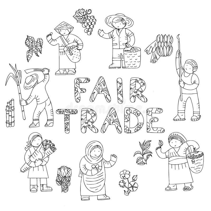 Garabatos comerciales justos stock de ilustración