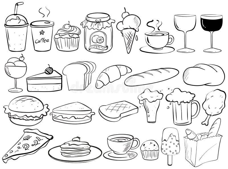Garabatos de la comida libre illustration