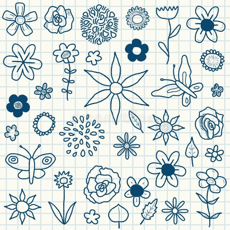 Garabatos de la flor ilustración del vector