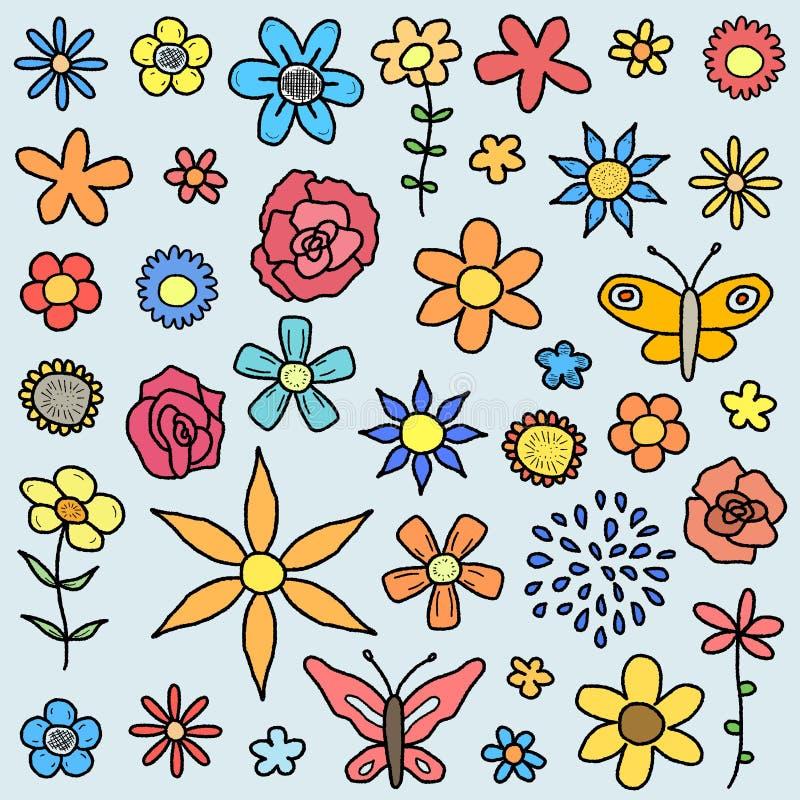 Garabatos de la flor stock de ilustración