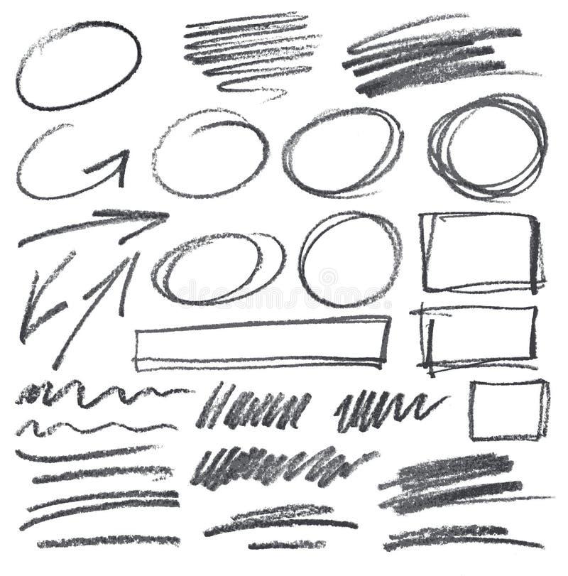 Garabatos del lápiz del vector libre illustration