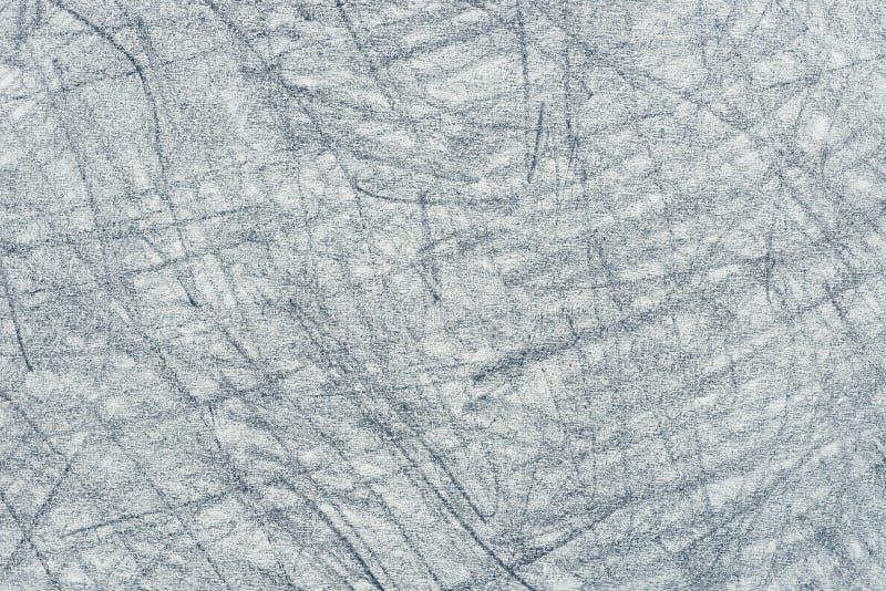 Garabatos grises del creyón en la textura de papel del fondo ilustración del vector