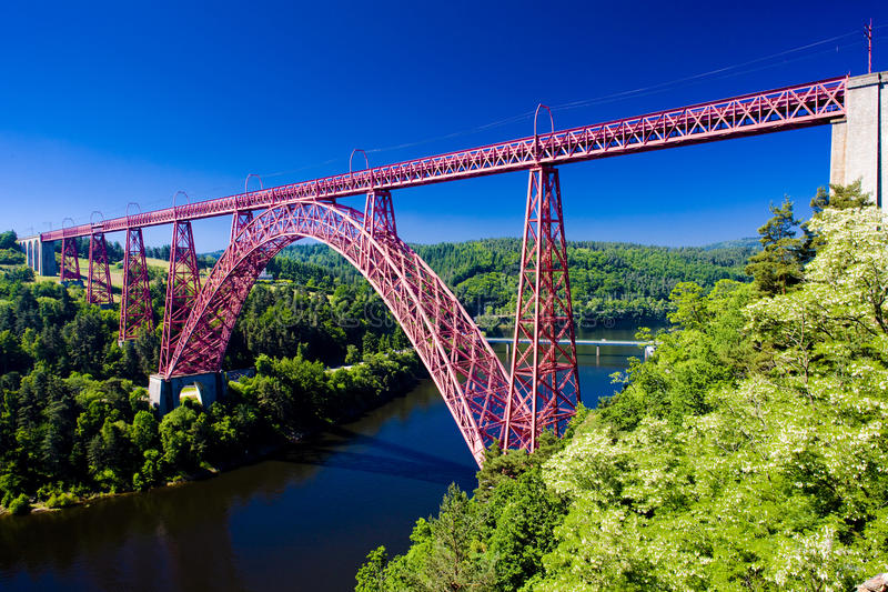garabit高架桥 库存图片